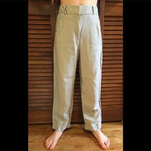 Wilfred Linen Blend Gray Pants Pockets XS 00